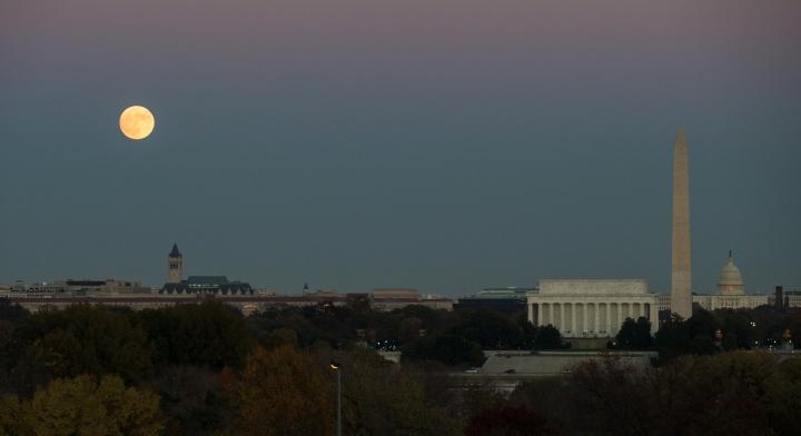 Moonrise over Washington
